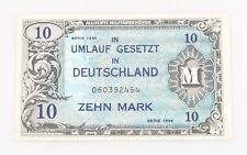1944 German 10 Mark Note XF Allied Occupation World War II Extra Fine P#194b