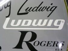 Ludwig White Late 70's/80's - current Logo Replacement Sticker