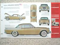 Studebaker GOLDEN HAWK SPEC SHEET/Brochure:1957,1958