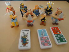 LOT DE 8 PERSONNAGES - ASTERIC-OBELIX...+ 3 DOMINOS AUCHAN