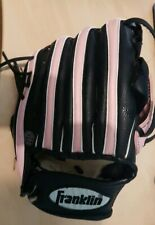 "Franklin RTP Baseball Glove Girls/youth Black & Pink durabond lacing 4809-9 1/2"""