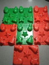 Jello Jiggler Christmas Molds LOT OF 7Jello Shots / Soaps / Candy / Dessert