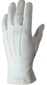 SALE Dress Gloves White 100% Cotton Ceremonial Services Sizes XL XXL  & XXXL