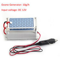 Car Portable Ozone Generator 12V 10g Ozonizer Air Cleaner Double Ceramic Plate