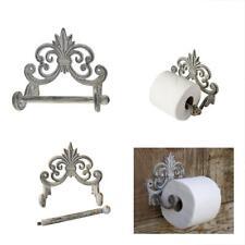 Fleur De Lis Cast Iron Toilet Paper Roll Holder Wall Mounted Tissue European X