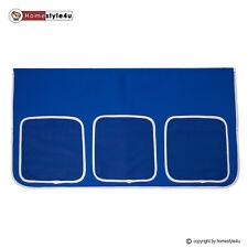 Bett Tasche Stofftasche für Hochbett Bettzubehör blau Stoff Kinderbett Vorhang