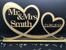 Personalised Mr & Mrs Wood Table Sign & Date Mr and Mrs Wedding Decoration Gift