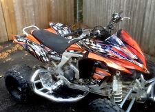 KFX 450R graphics decal kit for Kawasaki ATV #2500 Orange FREE Customization
