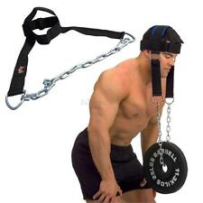 Sports Gym Training Exercise Belt Weight Lifting Head Harness For Neck StrengthA