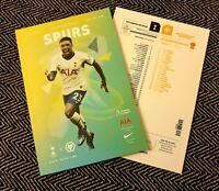 Tottenham Hotspur v Wolverhampton Matchday Programme 1/3/20!!!