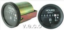 ENGINE HOUR METER 52MM GAUGE CLOCK BLACK BEZEL DURITE TYPE 0-523-08 160702