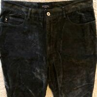VTG Guess Jeans WOMEN'S Suede Black/Gray Sequence JEANS Women's Pants Size: 31
