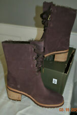 Timberland Women's Sienna High Waterproof Mid Purple Suede Boots A297N