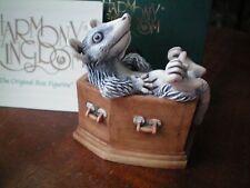 """Harmony Kingdom Graveyard Shift """"Shirt"""" V2 Opossum Box Figurine Uk Made Nib"""