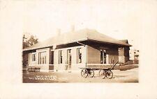 D13/ Middleville Michigan Mi Real Photo RPPC Postcard c1910 M.C. Railroad Depot