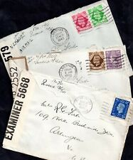 More details for gb kgvi 1940's 3 x censored postal history covers ws16036