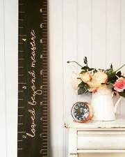 Premium Engraved Wooden Height Chart Ruler - Personalised - Home Decor Baby Gift