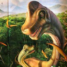 Fabric Panel Brachiosaurus and Baby Dinosaur 36 x 44 100% Cotton