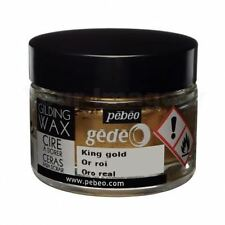Pebeo Gedeo dorure Papier Craft gaufrer Rub Cire 30 ml de pot-KING or