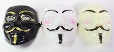 White Black Yellow V for Vendetta Guy Fawkes Anonymous Costume Halloween  Masks