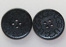 SPECIAL Two (2) Wooden Buttons for UGG boots, 1' round, Black Color