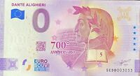 BILLET 0  EURO DANTE ALIGHIERI  ITALIE  ITALIE 2021 NUMERO  DIVERS