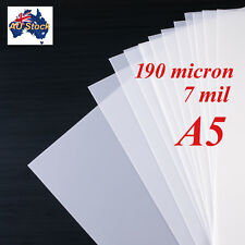 Stencil Film 10 sheets A5 Mylar: 190 micron  for Airbrushing, Painting and Craft