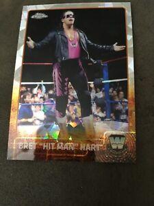"Bret ""The Hitman"" Hart  2015 Topps WWE  Chrome Refractor  Card # 79 WCW"