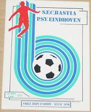 FOOTBALL VOETBAL FUSSBALL CARTE SEC BASTIA V PSV EINDHOVEN UEFA CUP FINAL 1978