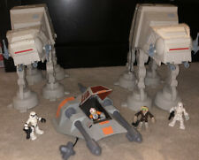 Playskool Star Wars GALACTIC HEROES LOT 2 At-At Plus Snow Speeder Set Figures