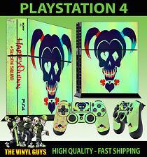 PS4 Piel Suicide Squad Harley Quinn pintado pegatina logo + Pad vinilo Stood