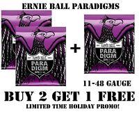 **3 SETS ERNIE BALL PARADIGM 2020 POWER SLINKY ELECTRIC GUITAR STRINGS (11-48)**