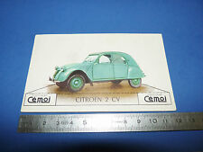 CHROMO 1950-1959 CHOCOLAT CEMOI DECOUPAGE AUTOMOBILE AUTO CITROËN 2 CV DEUDEUCHE