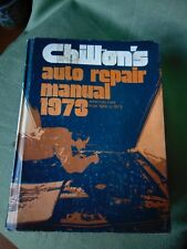 1973 CHILTON'S AUTO REPAIR MANUAL American Cars From 1966-73