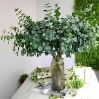 Artificial Fake Leaf Eucalyptus Green Plant Silk Flowers Nordic Home Decor UK