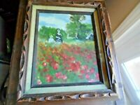 "Vintage Impressionist Oil Painting ""from Renoir"" by O.Schneider, 8"" x 10"""