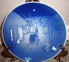 """Vtg Plate Blue Jule After 1979  Hvid Jul White Christmas 7"""" Copenhagen (Denmark)"""