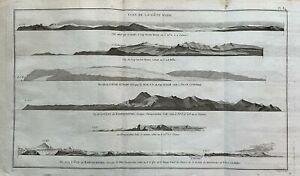 Original Antique Map 1788 Kamtschatka Russia Alaska Cook Travels Robert Bénard