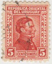 (UG-121) 1928 Uruguay 5c red ARTIGUS (H)