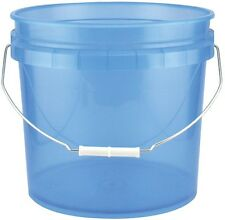 3.5-Gal. Blue Plastic Translucent Pail Bucket Paint Container Tool (Pack of 3)