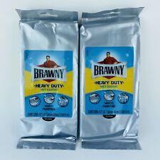 Brawny Heavy Duty Wet Cloths Multi-Purpose 2 Packs 20 Each 40 Total Towels NEW