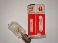 Ampoule tube clair filament incandescent EDISON 25W B15 SUDRON LAMPE CROZE NEUVE