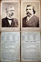John A. Logan & James G. Blaine Republican 1884 Presidential Candidate Photos