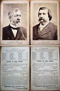 John A. Logan & James G. Blaine Republican 1884 Presidential Candidate Photos