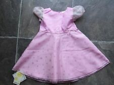 BNWT Baby Girl's Ladybird Pink Polyester Short Sleeve Party Dress Size 00