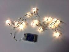 x16 Noël TRANSPARENT GEM fil Lampe Conte de fée blanc chaud Pile - 2.4M M câble