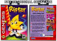 Ristar - Sega Genesis Custom Case *NO GAME*