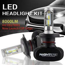 Pair H4 HB2 8000LM Hi-Lo Beam PHILIPS CSP LED Headlight Bulbs Conversion 6500K