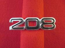Ferrari 208 Badge Logo Script Emblem - Rare Original