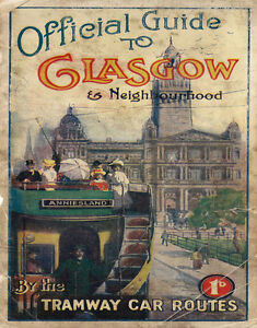 OFFICIAL GUIDE TO GLASGOW  LARGE METAL POSTER TIN SIGN WALL PLAQUE